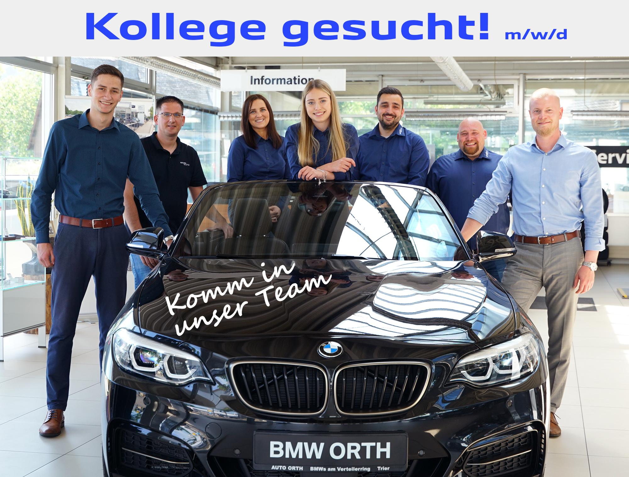 AUTO ORTH BMW TRIER SERVICE Bewerbung Stellensuche
